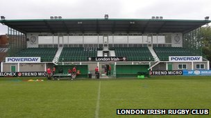 London Irish training ground in Sunbury