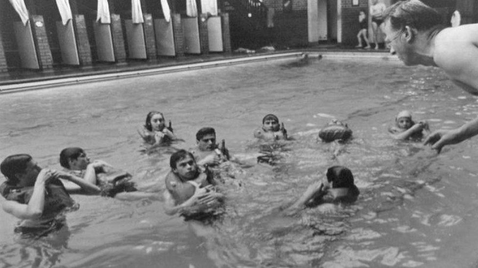 Bbc News Arthur Hill Memorial Baths Celebrates Centenary