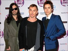 30 Seconds To Mars at the MTV awards ceremony
