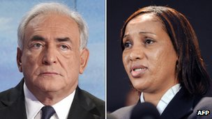 Former IMF head Dominique Strauss-Kahn, left, and Nafissatou Diallo, a 32-year-old Guinean immigrant who accused him of sexual assault