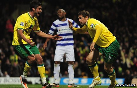 Grant Holt celebrates his winner