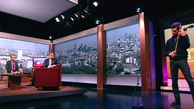 Charlie Siem performs on The Andrew Marr Show