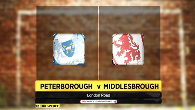 Highlights - Peterborough 1-1 Middlesbrough