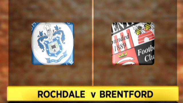 Highlights - Rochdale 1-2 Brentford