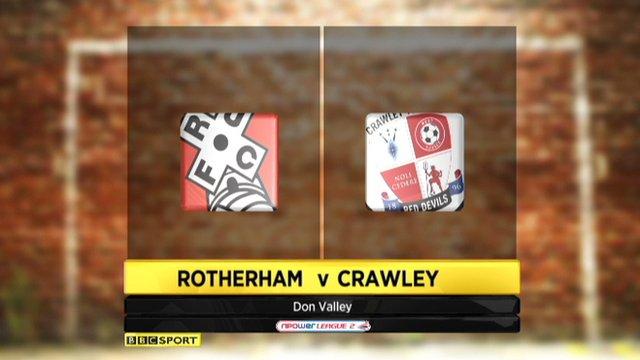 Highlights - Rotherham 1-2 Crawley Town