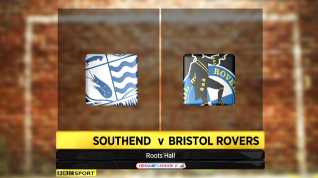 Highlights - Southend 1-1 Bristol Rovers