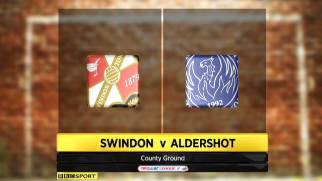 Highlights - Swindon 2-0 Aldershot