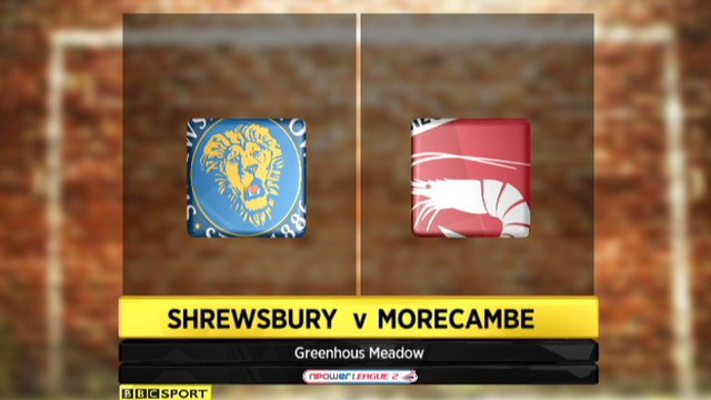 Highlights - Shrewsbury 2-0 Morecambe