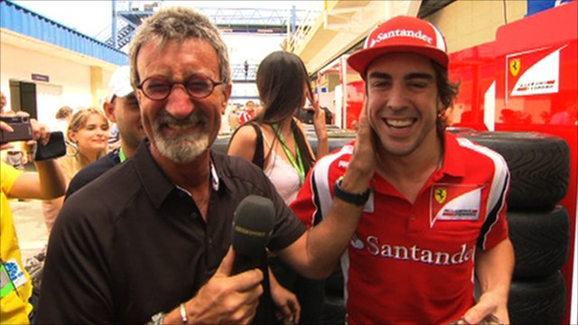 Eddie Jordan and Fernando Alonso