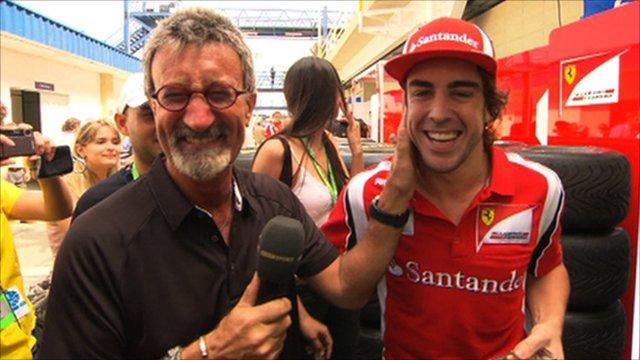 Eddie Jordan and Fernando Alonso