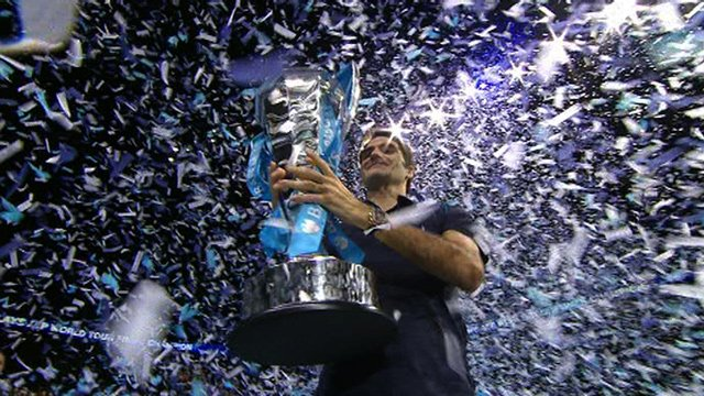 World Tour Finals winner Roger Federer