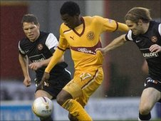 Motherwell winger Omar Daley