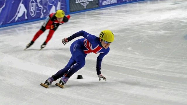 GB short-track speed skater