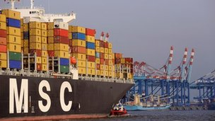 A cargo container vessel