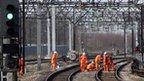 Railway maintenance workers