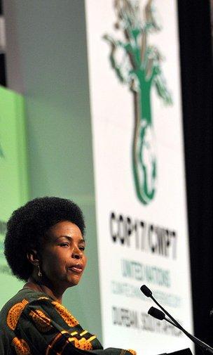 South African minister Maite Nkoana-Mashabane