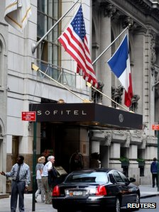 The Sofitel hotel, New York