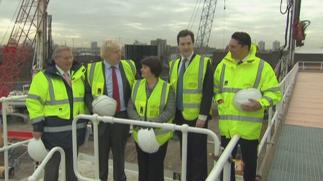 Boris Johnson with Chancellor George Osborne