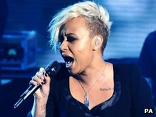 Emeli Sande performs at BBC Children In Need