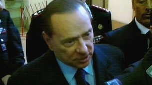 Silvio Berlusconi leaves the Milan court - 28 Nov 2011