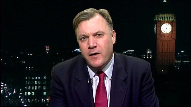 The Shadow Chancellor Ed Balls.