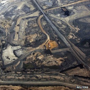 Syncrude tar sands development in Alberta