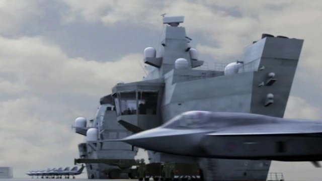 MOD animation of aircraft carrier