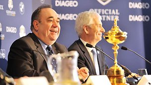 Scottish First Minister Alex Salmond at the sponsorship signing