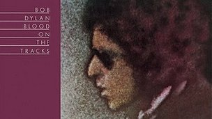 Bob Dylan Blood on the Tracks album cover