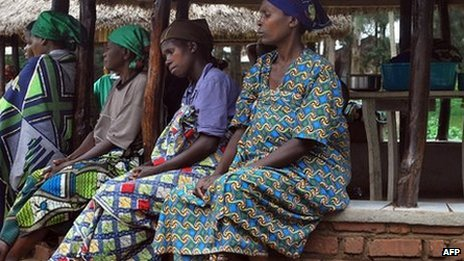 Patients sit on November 12, 2009 at Panzi hospital in Bukavu, eastern Democratic Republic of Congo (DRC)