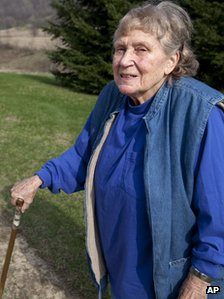Lana Peters is photographed on a rural road outside of Richland Center, Wis., Tuesday, April 13, 2010.