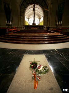 Tomb of General Franco at the Valley of the Fallen outside Madrid (file photo)