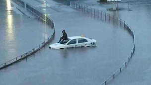 Flooding in Greenock