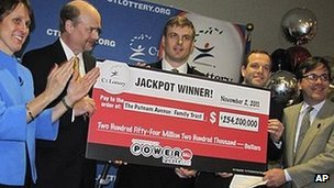 POWERBALL: Connecticut money managers strike it rich -- via lottery