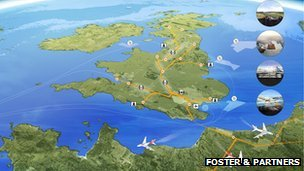 Airport plans in Thames estuary