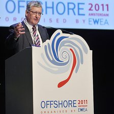 Fergus Ewing speaking at the European Wind Energy Association offshore wind conference in Amsterdam