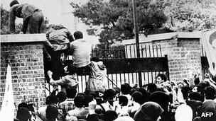US embassy in Tehran stormed in 1979