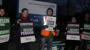 Picket line at York Hospital