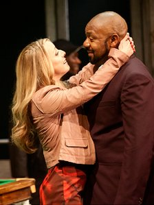 Claudie Blakely and Lenny Henry in A Comedy of Errors