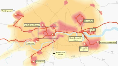 TfL heatmap for 2012