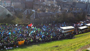 Marchers in Edinburgh