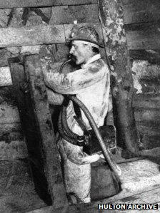 Prof Haldane down a mine in about 1910