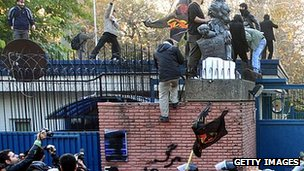 UK embassy stormed in Tehran, 29 Nov 2011