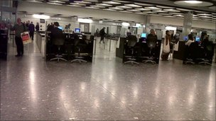 Empty Heathrow terminal. Photo: Bernard Ross 