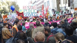 pensions march