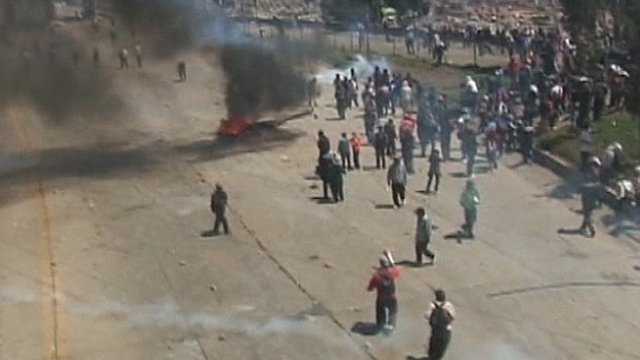 Clashes in Bolivia
