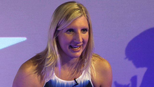 Olympic gold medal-winning swimmer Rebecca Adlington 