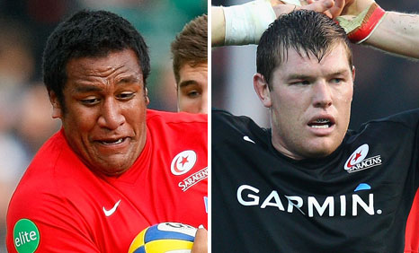 Mako Vunipola and Hayden Smith