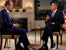 Andrew Marr and President Obama.
