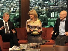 Alan Johnson, Joanna Lumley and Patrick Stewart.